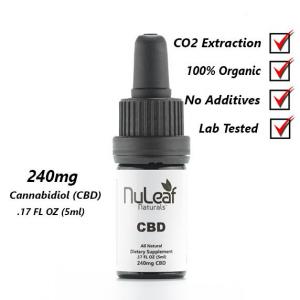 240mg Full Spectrum CBD Oil, High Grade Hemp Extract 5ml (50mg/ml)