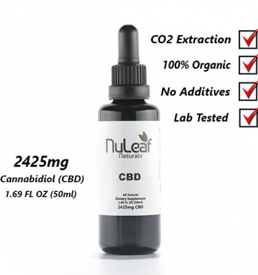 2425mg Full Spectrum CBD Oil, High Grade Hemp Extract 50ml (50mg/ml)